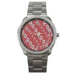 Abstract Pattern Background Wallpaper In Pastel Shapes Sport Metal Watch