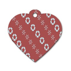 Abstract Pattern Background Wallpaper In Pastel Shapes Dog Tag Heart (two Sides)