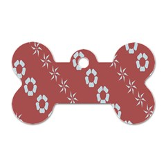 Abstract Pattern Background Wallpaper In Pastel Shapes Dog Tag Bone (two Sides)