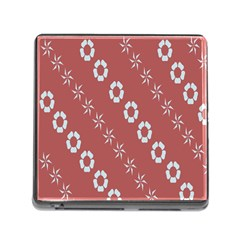 Abstract Pattern Background Wallpaper In Pastel Shapes Memory Card Reader (square)