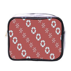 Abstract Pattern Background Wallpaper In Pastel Shapes Mini Toiletries Bags
