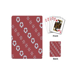 Abstract Pattern Background Wallpaper In Pastel Shapes Playing Cards (mini)