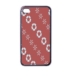 Abstract Pattern Background Wallpaper In Pastel Shapes Apple Iphone 4 Case (black)