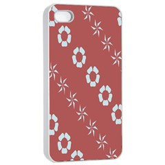 Abstract Pattern Background Wallpaper In Pastel Shapes Apple Iphone 4/4s Seamless Case (white)