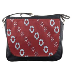 Abstract Pattern Background Wallpaper In Pastel Shapes Messenger Bags