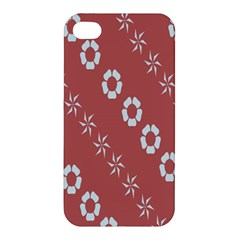 Abstract Pattern Background Wallpaper In Pastel Shapes Apple Iphone 4/4s Premium Hardshell Case