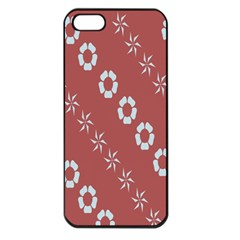 Abstract Pattern Background Wallpaper In Pastel Shapes Apple Iphone 5 Seamless Case (black)