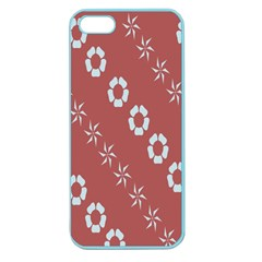 Abstract Pattern Background Wallpaper In Pastel Shapes Apple Seamless Iphone 5 Case (color)