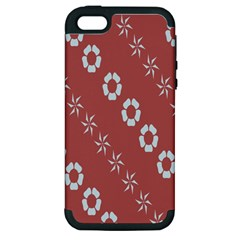 Abstract Pattern Background Wallpaper In Pastel Shapes Apple iPhone 5 Hardshell Case (PC+Silicone)
