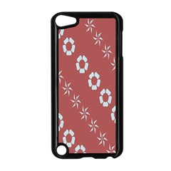 Abstract Pattern Background Wallpaper In Pastel Shapes Apple Ipod Touch 5 Case (black)