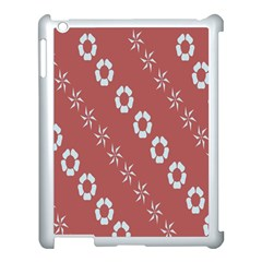 Abstract Pattern Background Wallpaper In Pastel Shapes Apple Ipad 3/4 Case (white)