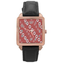 Abstract Pattern Background Wallpaper In Pastel Shapes Rose Gold Leather Watch