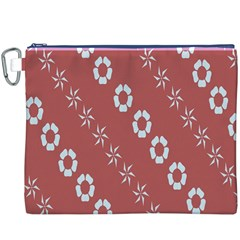 Abstract Pattern Background Wallpaper In Pastel Shapes Canvas Cosmetic Bag (xxxl)
