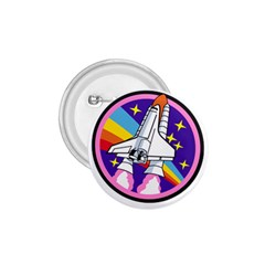 Badge Patch Pink Rainbow Rocket 1 75  Buttons
