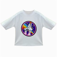 Badge Patch Pink Rainbow Rocket Infant/Toddler T-Shirts