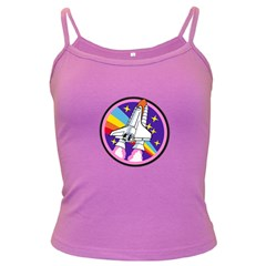 Badge Patch Pink Rainbow Rocket Dark Spaghetti Tank