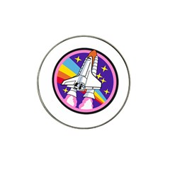 Badge Patch Pink Rainbow Rocket Hat Clip Ball Marker (4 Pack)