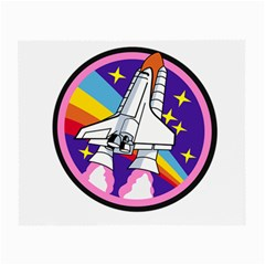 Badge Patch Pink Rainbow Rocket Small Glasses Cloth