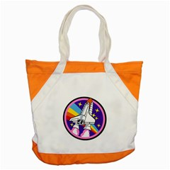 Badge Patch Pink Rainbow Rocket Accent Tote Bag