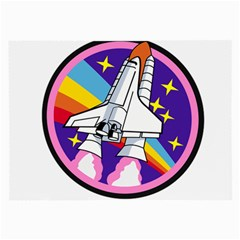 Badge Patch Pink Rainbow Rocket Large Glasses Cloth