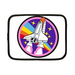 Badge Patch Pink Rainbow Rocket Netbook Case (small)