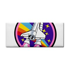 Badge Patch Pink Rainbow Rocket Cosmetic Storage Cases