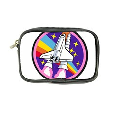 Badge Patch Pink Rainbow Rocket Coin Purse