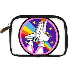 Badge Patch Pink Rainbow Rocket Digital Camera Cases