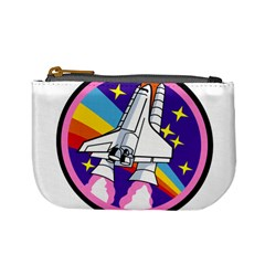Badge Patch Pink Rainbow Rocket Mini Coin Purses