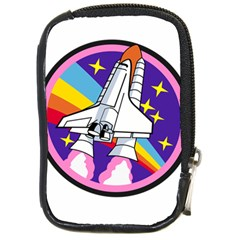 Badge Patch Pink Rainbow Rocket Compact Camera Cases