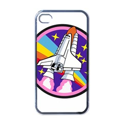 Badge Patch Pink Rainbow Rocket Apple Iphone 4 Case (black)