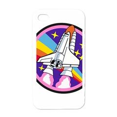 Badge Patch Pink Rainbow Rocket Apple Iphone 4 Case (white)