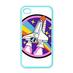 Badge Patch Pink Rainbow Rocket Apple Iphone 4 Case (color)