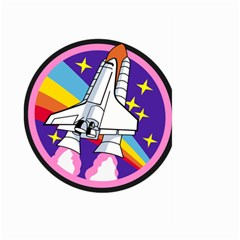 Badge Patch Pink Rainbow Rocket Large Garden Flag (two Sides)