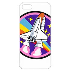 Badge Patch Pink Rainbow Rocket Apple Iphone 5 Seamless Case (white)