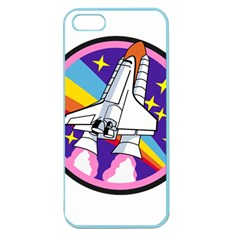 Badge Patch Pink Rainbow Rocket Apple Seamless iPhone 5 Case (Color)
