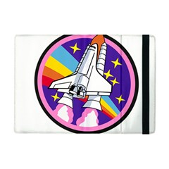 Badge Patch Pink Rainbow Rocket Apple Ipad Mini Flip Case