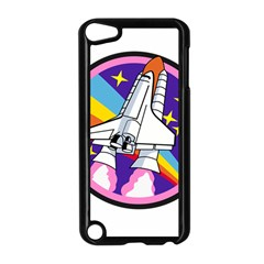 Badge Patch Pink Rainbow Rocket Apple Ipod Touch 5 Case (black)