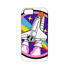 Badge Patch Pink Rainbow Rocket Apple Iphone 5 Classic Hardshell Case (pc+silicone)