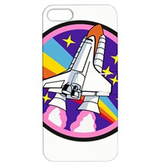 Badge Patch Pink Rainbow Rocket Apple Iphone 5 Hardshell Case With Stand
