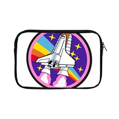 Badge Patch Pink Rainbow Rocket Apple iPad Mini Zipper Cases