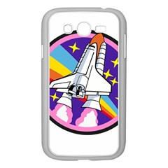 Badge Patch Pink Rainbow Rocket Samsung Galaxy Grand Duos I9082 Case (white)