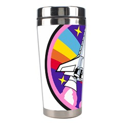 Badge Patch Pink Rainbow Rocket Stainless Steel Travel Tumblers