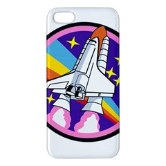 Badge Patch Pink Rainbow Rocket Iphone 5s/ Se Premium Hardshell Case