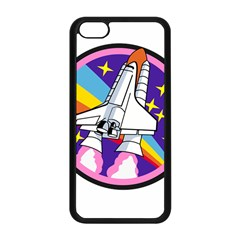 Badge Patch Pink Rainbow Rocket Apple Iphone 5c Seamless Case (black)