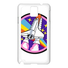 Badge Patch Pink Rainbow Rocket Samsung Galaxy Note 3 N9005 Case (white)