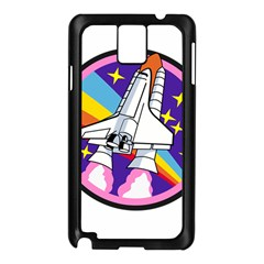 Badge Patch Pink Rainbow Rocket Samsung Galaxy Note 3 N9005 Case (black)