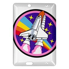 Badge Patch Pink Rainbow Rocket Amazon Kindle Fire Hd (2013) Hardshell Case