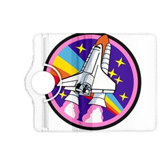 Badge Patch Pink Rainbow Rocket Kindle Fire Hd (2013) Flip 360 Case