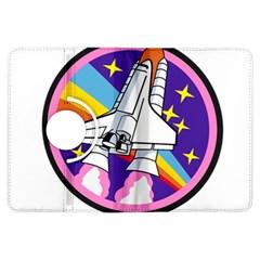 Badge Patch Pink Rainbow Rocket Kindle Fire Hdx Flip 360 Case